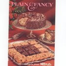 Plain & Fancy Recipes From Nestle Cookbook Vintage 1967