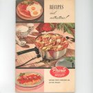 Recipes And Instructions Presto Automatic Electric Skillet Vintage 1954