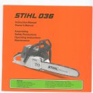 Stihl 036 Instruction Owners Manual Chainsaw