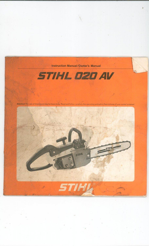 Stihl 012 Av Manual