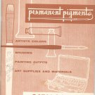 Permanent Pigments Vintage Catalog Number 8 1957 Artists Supplies