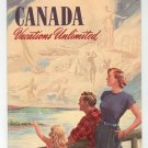 Canada Vacations Unlimited Travel Guide Brochure Vintage 1954