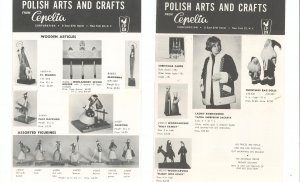 Lot Of 2 Vintage Cenelia Polish Arts And Crafts Brochures