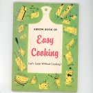 Arrow Book Of Easy Cooking Cookbook Let's Cook Without Cooking Children's Scholastic 1967