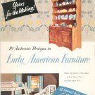 Yours For The Making Early American Furniture Vintage DeWalt 1953 Juvenile Furniture