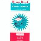 Miami Beach Nassau Jamaica 1968 - 1969 Embassy Bon Vista Holidays Vintage Brochure