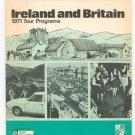 Ireland And Britain 1971 Tour Programs Travel Brochure Vintage Irish Aer Lingus