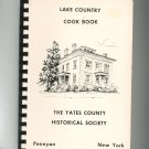 Lake Country Cookbook Regional Yates County Historical Society New York