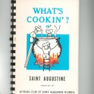 What's Cookin ? In Saint Augustine Cookbook Altrusa Club Florida Vintage 1978