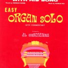 Killing Me Softly With His Song Sheet Music Organ Solo Al Hermanns Series Vintage 1973