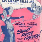 My Heart Tells Me Sheet Music Vintage BVC Music Should I Believe My Heart