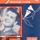 Yours Quiereme Mucho Sheet Music Vintage Edward B Marks Tony Martin