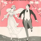 Just For Me And Mary Twas Beautiful Wedding Day Sheet Music Vintage McCarthy & Fisher