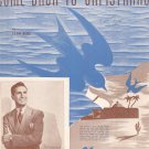 When The Swallows Come Back To Capistrano Sheet Music Vintage M. Witmark Dick Stabile