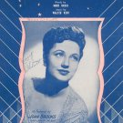 I Just Kissed Your Picture Goodnight Sheet Music Vintage Joan Brooks Crawford Music