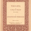 Toccata On O Filii Et Filiae Sheet Music Organ Vintage Farnam Theodore Presser Music