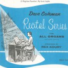 The Entertainer Sheet Music Vintage Dave Coleman Recital Series All Organs