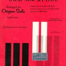 What Now My Love Sheet Music Vintage Organ Solo Remick Music Corp.
