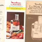 Moulinex La Machine Owners Manual And Cookbook LM2 & LM3 With Brochures 1982