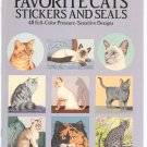 Favorite Cats Stickers And Seals John Green 048626369x