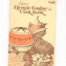 Oster Electric Fondue Cookbook Vintage 1979