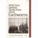 What Every Gardener Should Know About Earthworms Garden Way Bulletin A- 21