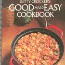 Betty Crocker's Good And Easy Cookbook Hard Cover Golden Press 0307096459 Vintage