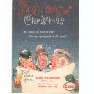 Sing A Song Of Christmas Advertising / Promotion Esso Vintage 1954