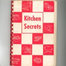 Kitchen Secrets Cookbook Regional Christ Church Fitchburg Mass. Vintage Advertisements