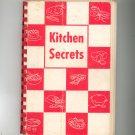 Kitchen Secrets Cookbook Regional Christ Church Fitchburg Mass. Vintage Advertisements