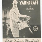 Yarncraft By Cynthia Number 2 Vintage Knitting Crocheting
