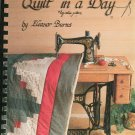 Make A Quilt In A Day Log Cabin Pattern by Eleanor Burns