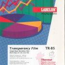 Labelon Overhead Projection Transparencies TR85 Sealed Box