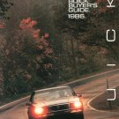 The Buick Buyer's Guide 1986 Catalog / Brochure