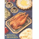Dining Delights Cookbook Vintage By R. T. French 1948