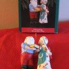Hallmark Gift Exchange Mr. & Mrs. Claus Ornament With Box
