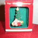 Russ Tiny Treasured Trimmings Mouse Under Tree Christmas Ornament With Box