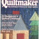 Quiltmaker Magazine November December 1995 Number 46  Patterns Christmas