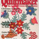 Quiltmaker Magazine November December 1998 Number 64  Patterns Christmas In Bloom