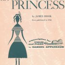 The Little Princess Sheet Music Vintage by James Hook