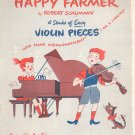 Happy Farmer Sheet Music Vintage by Robert Schumann
