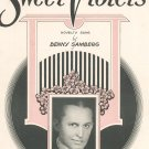 Sweet Violets Sheet Music Vintage by Benny Samberg Novelty Song