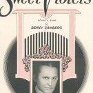 Sweet Violets Sheet Music Vintage by Benny Samberg Novelty Song