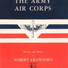 The Army Air Corps Sheet Music Vintage by Crawford