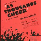 Easter Parade As Thousands Cheer by Berlin Sheet Music Vintage
