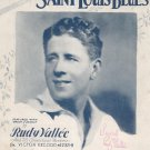 W. C. Handy's Saint Louis Blues Rudy Vallee Sheet Music Vintage