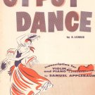 Gypsy Dance by H. Lichner Sheet Music Vintage