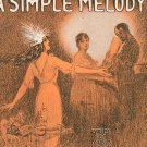 Won't You Play A Simple Melody by Irving Berlin Sheet Music Vintage Large Format