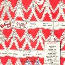 Take Back Your Mink by Loesser Sheet Music Vintage Guys & Dolls