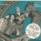 I've Got A Pocketful Of Dreams by Burke & Monaco Sheet Music Vintage